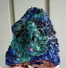 Natural Indigo Blue Azurite Malachite Crystal Rosette  LiuFeng Shan, China 1259G