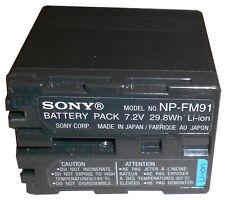 Genuine Sony NP-FM91 Original Battery NP-FM90 FM50 QM91D DCR-PC110 DVD100 TRV530