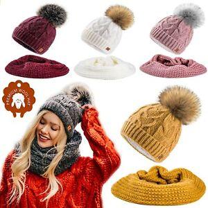 Set-Scarf-Or-Hat-Women-Winter-Mohair-Wool-Knitted-Beanie-Hat-Worm-Neck-Fleece