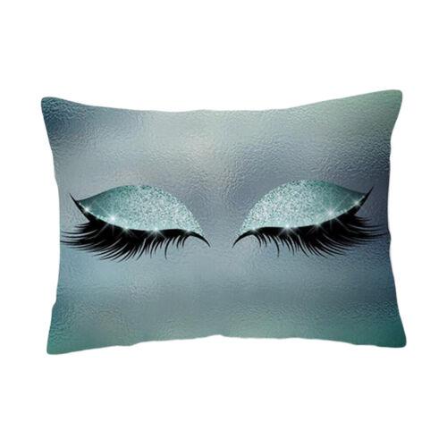 Eyelash Printed Throw Pillow Covers Square Cushion Covers Sofa Pillow Case