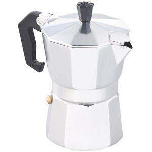 kaffekocher espresso kocher f r 3 tassen f r gas elektro herd und ceran feld ebay. Black Bedroom Furniture Sets. Home Design Ideas