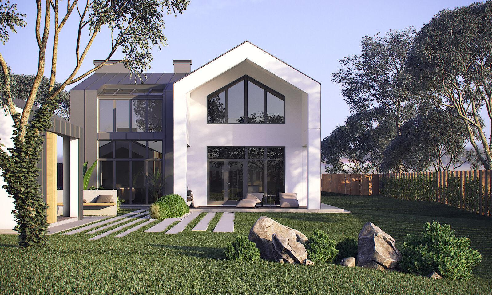 Modern House Plan Building Plans Blauprints & Material List 2018  171 m + 25m
