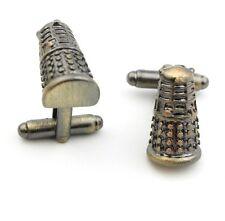 Cufflinks Dr Who Dalek 3D Metal silver Colour Cufflinks Doctor Who Cuff Links