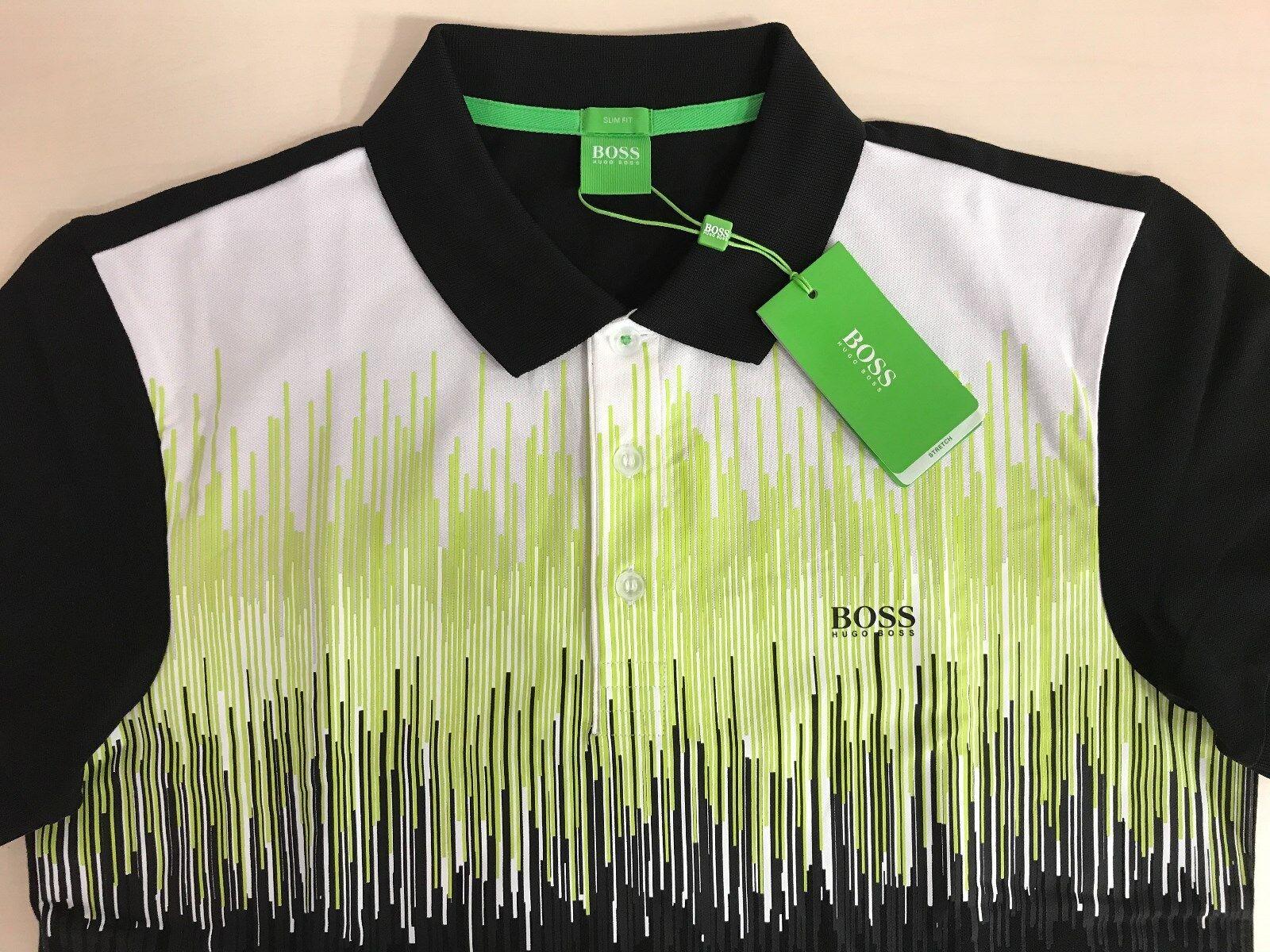 Men's Hugo Boss Green Label  PAULE 6  POLO Shirt, Multi-color,Size-LARGE(L).