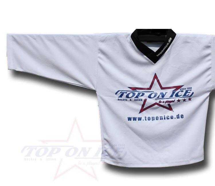 HOCKEY Joueur SUR GLACE Maillot d'entraînement top-on-ice Blanc - Joueur HOCKEY & 008d67