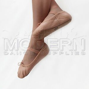 Leather Jazz Ballet Shoes full sole  Quality New Single Elastic