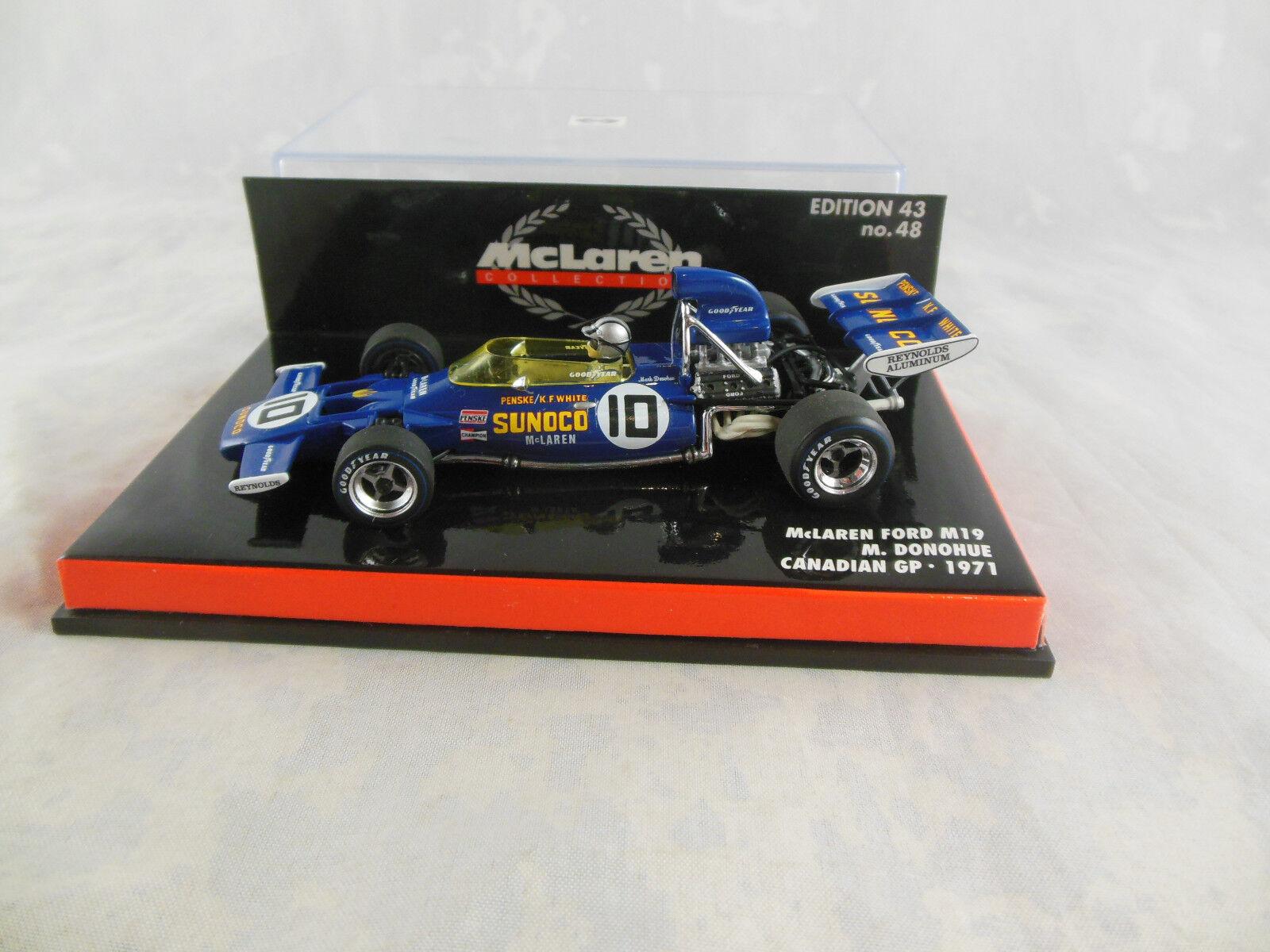RARE MINICHAMPS 530 714310 1971 McLaren Ford M19 M Donohue Racing No10 Sunoco