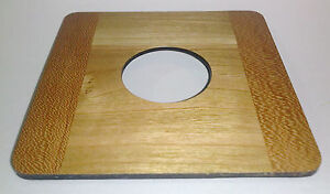 "1 Lens Board 4.5""sq. RC for Deardorff, Solid Cherry, 42mm hole for #0, natural"