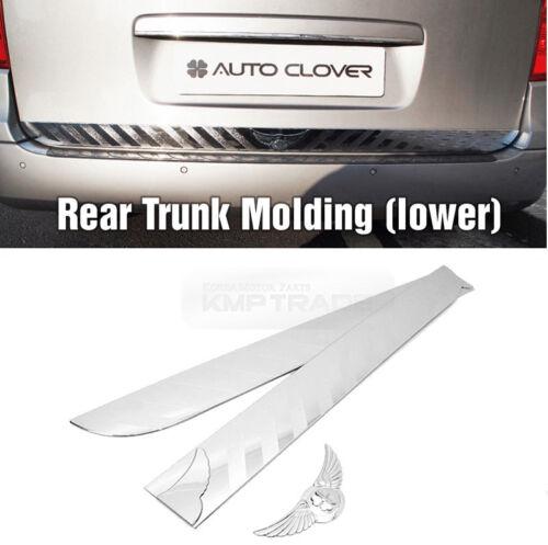 Chrome Rear Trunk Garnish Molding Cover Lower D786 For HYUNDAI 2007-2017 Starex