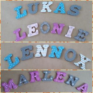 Details zu Holzbuchstaben Kinder Name Baby Buchstaben Namensschild  Türschild Kinderzimmer 8