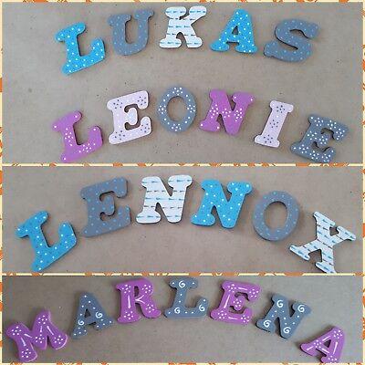 Holzbuchstaben Kinder Name Baby Buchstaben Tür Türschild Kinderzimmer Stern Herz