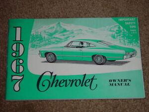 1967 chevrolet impala ss factory original gm owners manual part rh ebay com 96 Impala SS 2018 Impala SS