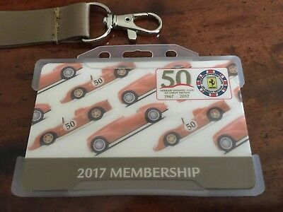 Automotive Club Badges 50th Anniversary High Quality Automobilia Ferrari Owners Club Uk Membership Card 2017