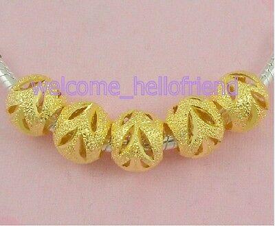 30ps Antique Gold Tone éléphant Charm Beads Fit European Bracelet J016