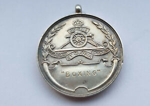 ANTIQUE-STERLING-SILVER-BOXING-MEDAL
