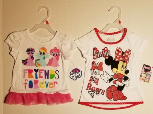 Disney Toddler Girls My Little Pony /& Minnie Mouse Tshirt *2 Pack*  2T /& 5T NWT