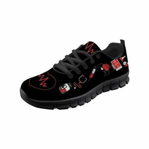 Medical-Design-Mens-Sneakers-Casual-Nursing-Shoes-Platform-Fit-Lace-Up-Trainers