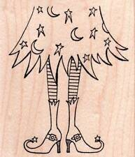 New NORTHWOODS RUBBER STAMP Halloween Eva's Witch's LEGS Free us ship