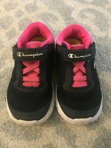 Champion Pink Black Sneakers Toddler