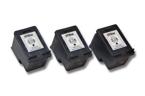 3x XXL inchiostro CARTUCCE PER HP 338 Officejet 6208 BLACK Set