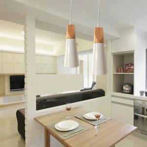 Details About Modern Ceiling Lamp Office Mini Wood Pendant Lighting Lobby Led Chandelier