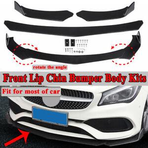 Front-Bumper-Lip-Spoiler-Splitter-Body-Kit-For-Mercedes-Benz-A-C-E-CLA-GLA-Class