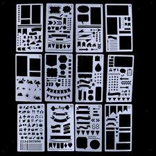 12//20X  DIY Plastic Stencils Drawing Journal Stencil Planner Template Scrawl SS