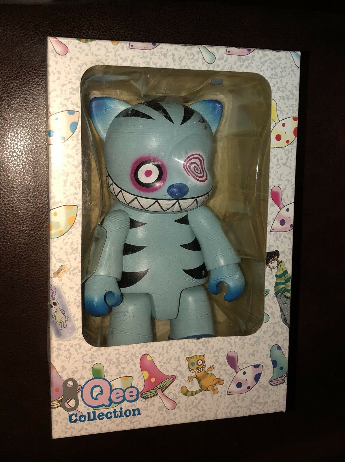 8  Qee CHESHIRE CAT SIGNED AP Toy2R Angel Devil - Teal & bluee 2004 NIB Dunny
