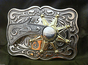 Western-Cowboy-034-Spinning-Spur-034-Metal-Belt-Buckle-Rectangular