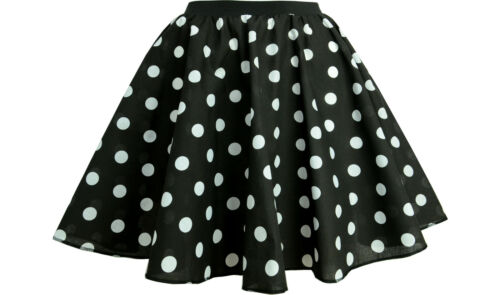 ROCK AND ROLL FANCY DRESS 1950s Fancy Dress with Scarf Polka Dot Skirt COSTUME