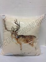 Pottery Barn Painted Deer Christmas Holiday Indoor Outdoor Throw Pillow 20