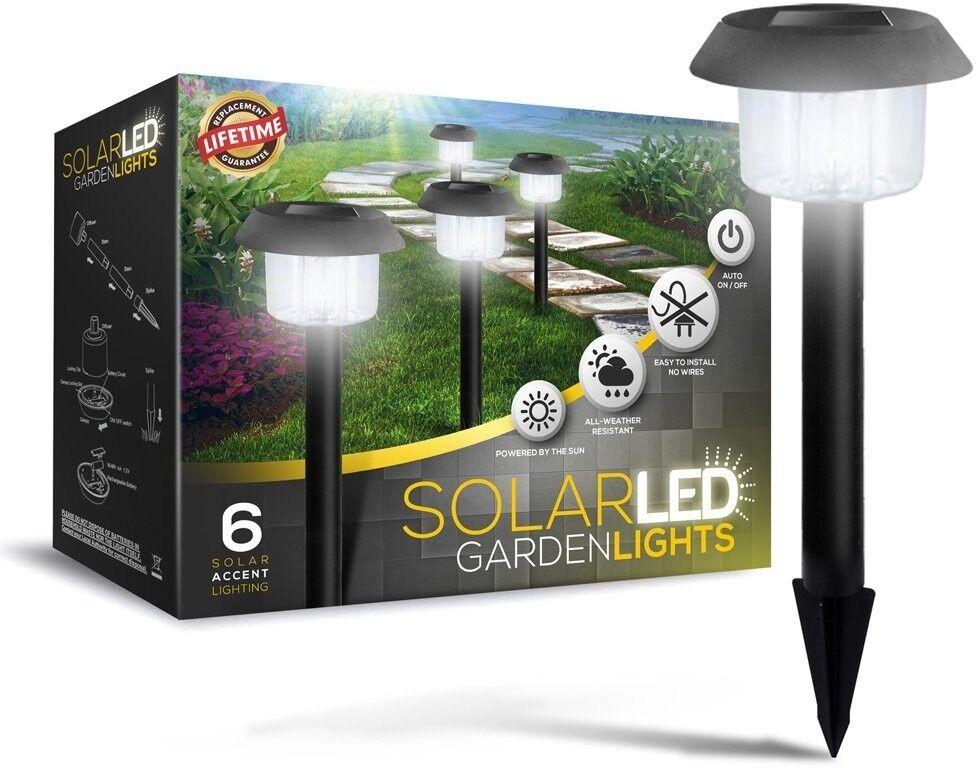 Ultra brillante 15 lúmenes Energía Solar Luces vías de jardín patio macizos de flores