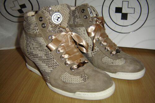 Gino-B Sneaker Femmes T 40 modèle Monaco Combi Piton SABLE Nº 13040w-7 NEUF neuf dans sa boîte