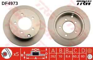 2 Stück Bremsscheibe TRW DF4973