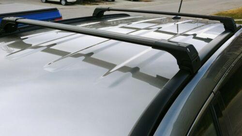 FIT AUDI A4 AVANT BLACK ALU TOP ROOF RACK CROSS BAR CROSS RAIL LOCKABLE 2008/>