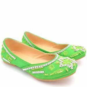 Image Is Loading GIRLS KIDS BRIDAL WHITE KHUSSA BEADED SHOES INDIAN