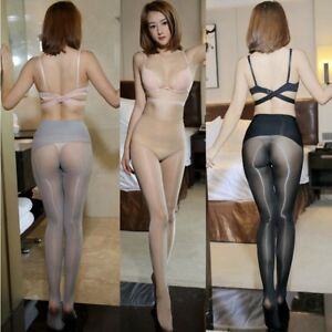 Seamless-Oil-Shiny-Super-brillant-diaphanes-collants-Pantyhose-Tights-Stockings
