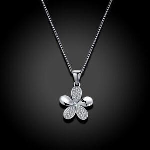 Plumeria-Collier-Argent-Sterling-925-Fleur-Hibiscus-Hawaii-Charm-Bijoux
