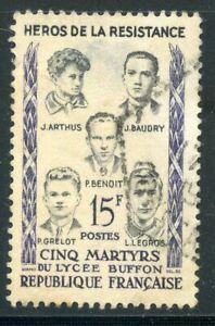 PHOTO CONTRACTUELLE // FRANCE OBLITERE N° 1198 HEROS DE LA RESISTANCE / MARTYRS