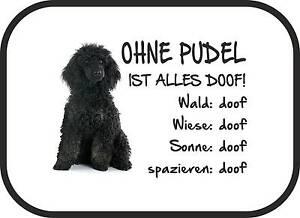 """Auto-sonnenschutz """"ohne Pudel Ist Alles Doof!"""" 2er Set Hund Schwarz Sa0042 Dinge Bequem Machen FüR Kunden Dekoration"""