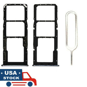 PHONSUN Replacement Sim Card Tray for Samsung Galaxy A71 SM-A715U Black