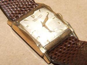 Vintage-Gruen-Veri-Thin-Rolled-Gold-Men-Or-Women-Watch-Winds-Up-amp-Working