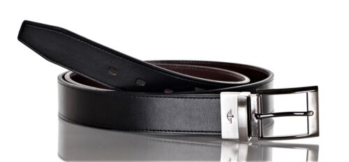Docker/'s Men/'s 1.38 Inch Reversible Big and Tall Belt Black Brown