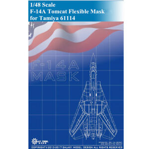GALAXY-D48004-1-48-F-14A-Tomcat-Die-cut-Flexible-Mask-for-Tamiya-61114-Model-Kit