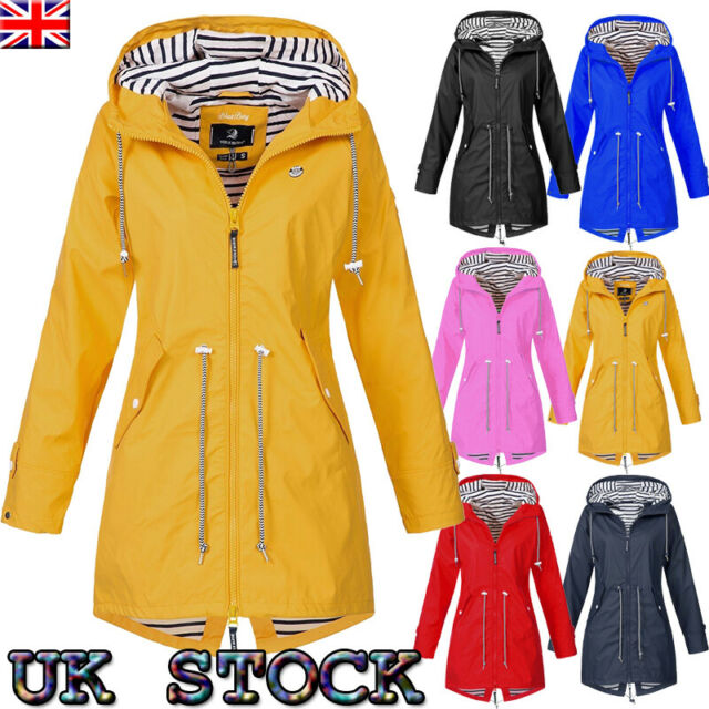 unique style top-rated real search for genuine Women Ladies Raincoat Wind Waterproof Jacket Hooded Rain Mac Outdoor Poncho  UK