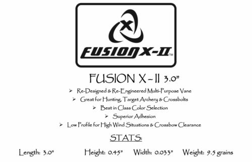 Pkg12 ***When Accuracy Counts*** Fire Red Fusion X-II Vanes 3.0/""