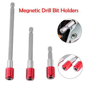3pcs-1-4-034-Hex-Shank-Magnetic-Screwdriver-Extension-Bit-Holder-Kits-Quick-Release
