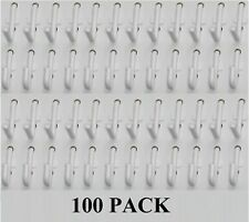 Plastic White Pegboard Wall Locking Hooks 50 J Amp 50 L Pack Pegboard Not Included
