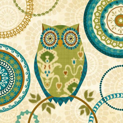 Veronique Charron  Owl Forest I Keilrahmen-Bild Leinwand Wald Eule Deko