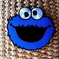 NEW COOKIE MONSTER Patches Iron on Sew Embroidered Patch Fancy Dress